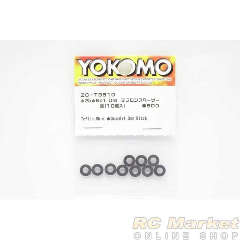 YOKOMO ZC-T3610 Teflon. Shim φ3xφ6x1.0mm Black