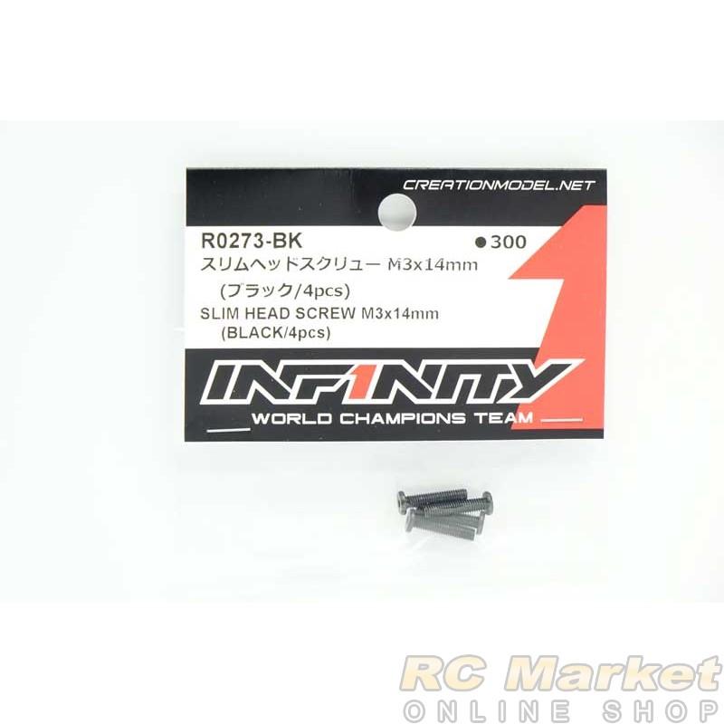 INFINITY R0273-BK IF18-2 Slim Head Screw M3x14mm (Black/4pcs)