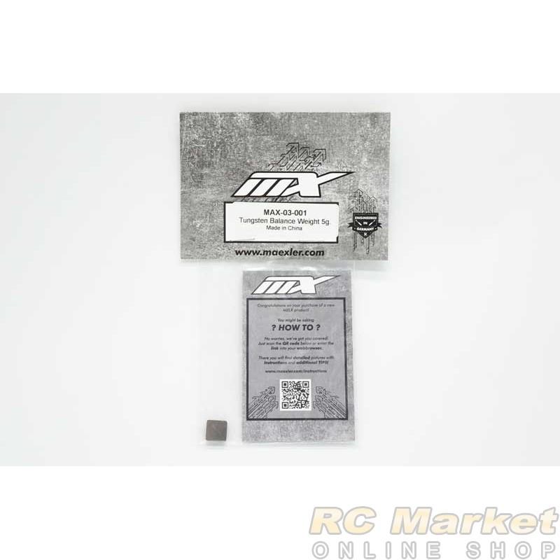 MXLR MAX-03-001 Tungsten Balance Weight 5g