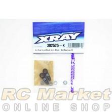 XRAY 302525-K Alu Dual Servo Saver Arm - Black + Ball-Bearings (2)
