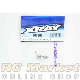XRAY 902303 Hex Screw SH M3X4 Small Head - Stainless  (10)