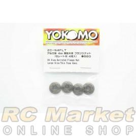 YOKOMO ZC-N4FLT M4 Alum. Serrated Flange Nut Large Size / Thin Type (4pcs)
