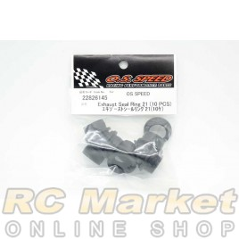 O.S. SPEED 22826145 Exhaust Seal Ring 21 (10pcs)