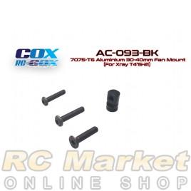 RC-COX AC-093-BK 7075-T6 Aluminium 30-40mm Fan Mount (Black, For Xray T4'15-21)