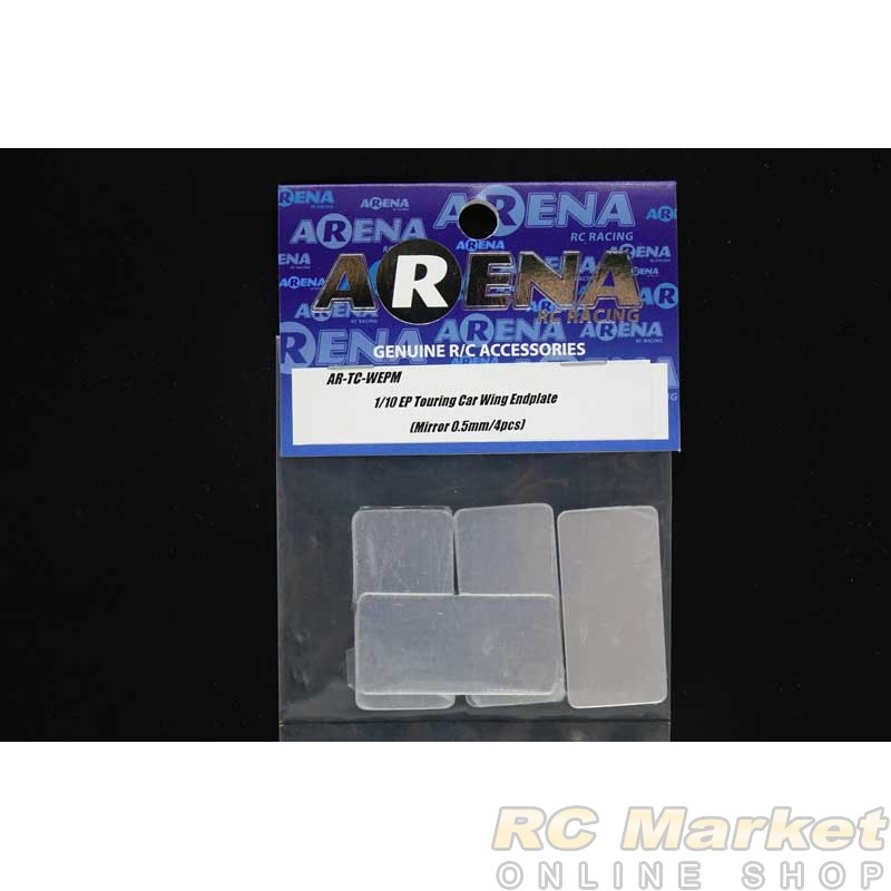 ARENA TC-WEPM 1/10 EP Touring Car Wing Endplate (Mirror 0.5mm/4pcs)