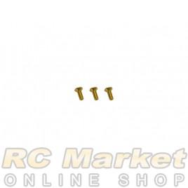 DASH DA-749003 540 Motor Screw Allen Countersunk M2.5 X 7 Golden (7075) (3)