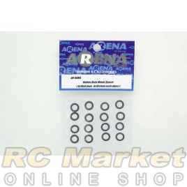 ARENA RBMS Rubber Body Mount Spacer (6x10x0.5mm , 6x10x1mm each x8pcs)