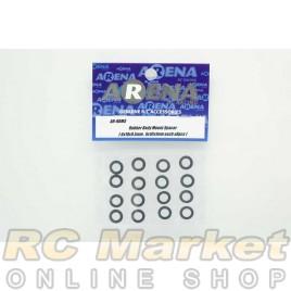 ARENA RBMS Rubber Body Mount Spacer (6x10x0.5mm , 6x10x1mm each x8pcs)