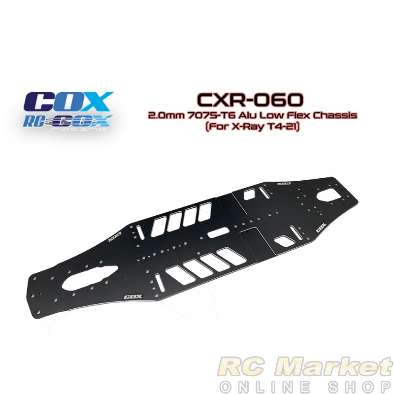 RC-COX CXR-060 2.0mm 7075-T6 Alu Low Flex Chassis (For Xray T4'21)