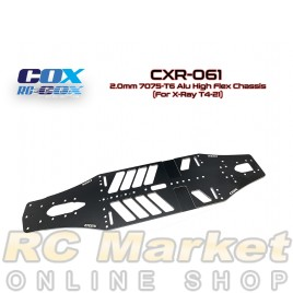 RC-COX CXR-061 2.0mm 7075-T6 Alu High Flex Chassis (For Xray T4'21)