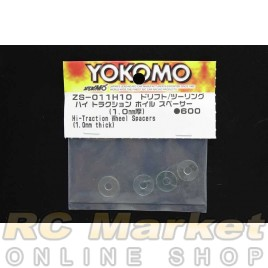 YOKOMO ZS-011H10 1.0mm Hi-Traction Wheel Spacers (1.0mm Thick)