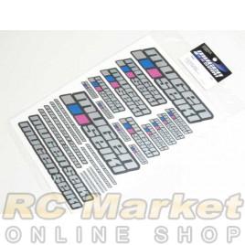 MUGEN SEIKI P0403 Large Decal Sheet (Chrome)