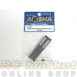 ARENA 107702 Graphite LW Chassis Droop Gauge Support Blocks For 1/10 (2)