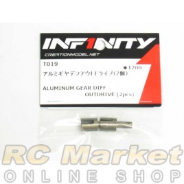 INFINITY T019 IF14 Alu Gear Diff Outdrive (2pcs)