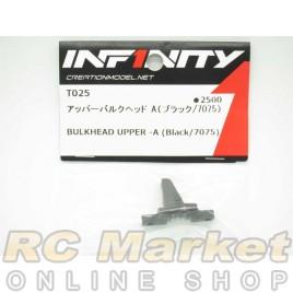 INFINITY T025 IF14 Bulkhead Upper -A (Black/7075)