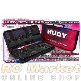 HUDY 199230 Set-Up Bag for 1/8 On-Road Cars - Exclusive Edition