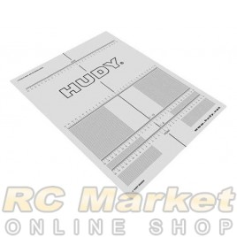 HUDY 108210 Plastic Set-Up Board Decal for 1/8, 1/10
