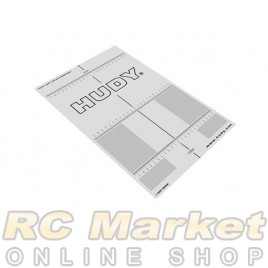 HUDY 108211 Plastic Set-Up Board Decal for 1/10
