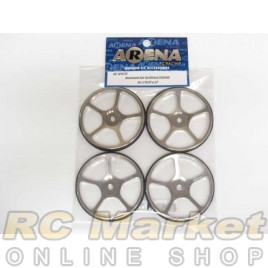 ARENA 109370 Aluminum Set-Up Wheel Chrome For 1/10 EP & GP