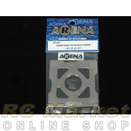 ARENA CGT-001 Camber Gauge 1/10 Touring Car Chrome (0.5 , 1.0 , 1.5 , 2.0)