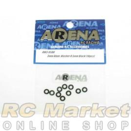 ARENA AW3-05BK 3mm Alum. Washer 0.5mm Black (10pcs)