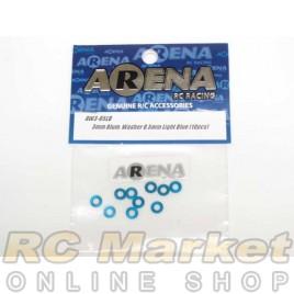 ARENA AW3-05LB 3mm Alum. Washer 0.5mm Light Blue (10pcs)