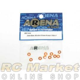 ARENA AW3-05O 3mm Alum. Washer 0.5mm Orange (10pcs)