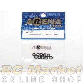ARENA AW3-15BK 3mm Alum. Washer 1.5mm Black (10pcs)