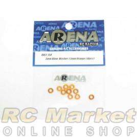 ARENA AW3-15O 3mm Alum. Washer 1.5mm Orange (10pcs)