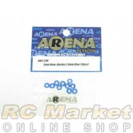 ARENA AW3-20B 3mm Alum. Washer 2.0mm Blue (10pcs)