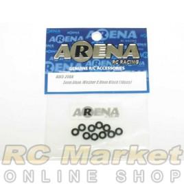 ARENA AW3-20BK 3mm Alum. Washer 2.0mm Black (10pcs)