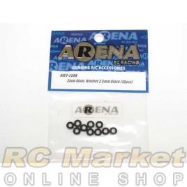 ARENA AW3-25BK 3mm Alum. Washer 2.5mm Black (10pcs)