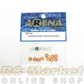 ARENA AW3-25O 3mm Alum. Washer 2.5mm Orange (10pcs)