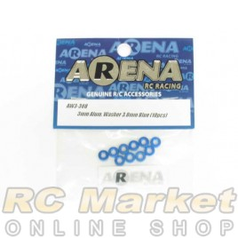 ARENA AW3-30B 3mm Alum. Washer 3.0mm Blue (10pcs)