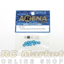 ARENA AW3-30LB 3mm Alum. Washer 3.0mm Light Blue (10pcs)