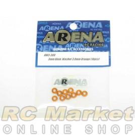 ARENA AW3-30O 3mm Alum. Washer 3.0mm Orange (10pcs)