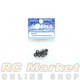 ARENA AW3-40BK 3mm Alum. Washer 4.0mm Black (8pcs)