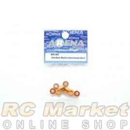 ARENA AW3-40O 3mm Alum. Washer 4.0mm Orange (8pcs)