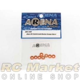 ARENA AW3-CWO Alum. M3 Countersunk Washer Orange (8pcs)