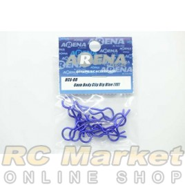 ARENA BC6-BB 6mm Body Clip Big Blue (10)