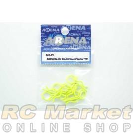 ARENA BC6-BFY 6mm Body Clip Big Fluorescent Yellow (10)