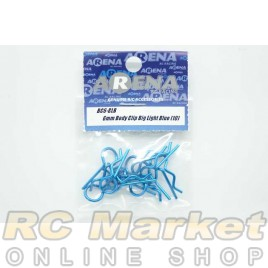 ARENA BC6-BLB 6mm Body Clip Big Light Blue (10)