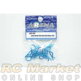 ARENA BC6-BLB 6mm Body Clip Big Light Blue (10)