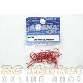 ARENA BC6-BR 6mm Body Clip Big Red (10)