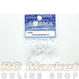 ARENA BC6-BW 6mm Body Clip Big White (10)
