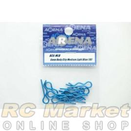 ARENA BC6-MLB 6mm Body Clip Medium Light Blue (10)