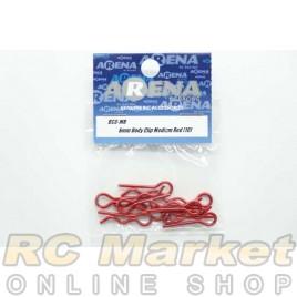 ARENA BC6-MR 6mm Body Clip Medium Red (10)