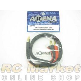 ARENA Li-Po 2 Cell Balance Chg Cable (4mm Plug To 4mm Plug 380mm) V3
