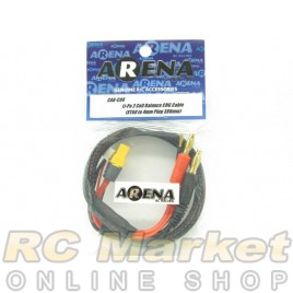 ARENA CAB-C08 Li-Po 2 Cell Balance Chg Cable (XT60 To 4mm Plug 380mm)