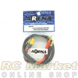 ARENA CAB-C08 Li-Po 2 Cell Balance Chg Cable (XT60 To 4mm Plug 380mm)